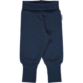 Maxomorra Pants Rib Dark Blue