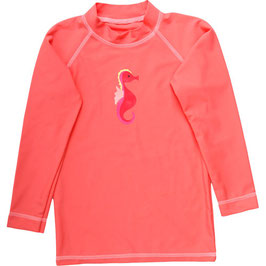 By Green Cotton Fred's World Swim Langarmshirt Coral Baby