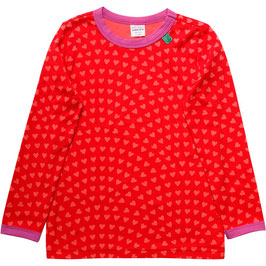 By Green Cotton Fred's World Shirt LS Heart Traffic Red *AKTION*