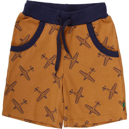 By Green Cotton Fred's World Airplane Shorts Desert Brown