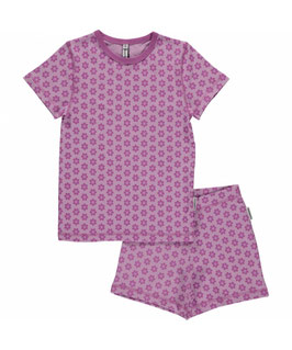Maxomorra Pyjama SS 2-teilig Anemone