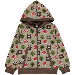 Maxomorra Cardigan Hood Forest