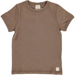 Maxomorra Shirt SS Solid Mole