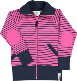 Geggamoja Zipsweater Cerise/marine