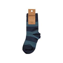 Maxomorra Socks 2-Pack Stripe Midnight