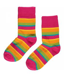Maxomorra Socks 2 Pack Cerise Mix