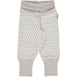 Maxomorra Pants Rib Stars grey small