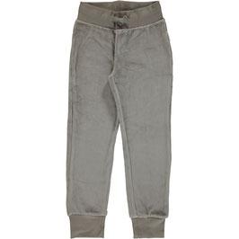 Maxomorra Pants Velour Grey light