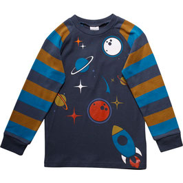 By Green Cotton Fred's World Shirt LS Space Raglan