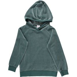 By Green Cotton Fred's World Velvet Hoodie Dream Green