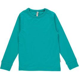 Maxomorra Shirt LS Basic Turquoise