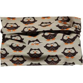 Maxomorra Scarf Tube Owl Hazelnut