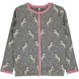 Maxomorra Cardigan Button Sweat Unicorn