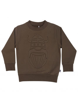 Danefae Organic Sweatshirt Army Erik Stitch