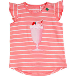 By Green Cotton Fred's World Hello Milkshake Shirt Coral