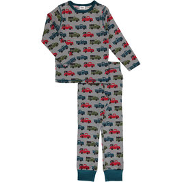 Maxomorra Pyjama LS Truck Grey