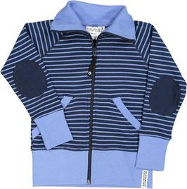 Geggamoja Zipsweater Marine/l. blue