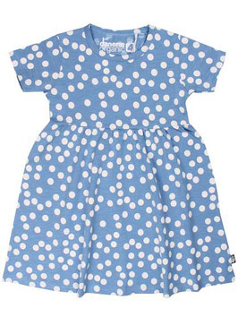 Danefae Organic Shellfish Dress Waterblue Big Dots