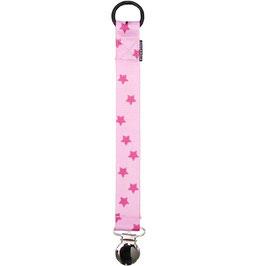 Geggamoja Pacifier holder / Nuggihalter Pink Stars
