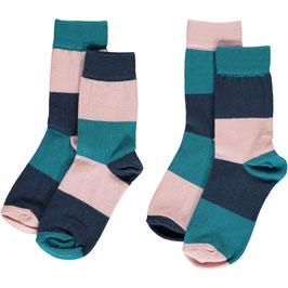 Maxomorra Socks 2-Pack Multi Snow