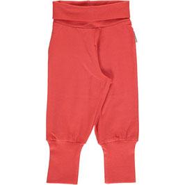 Maxomorra Pants Rib Rusty Red
