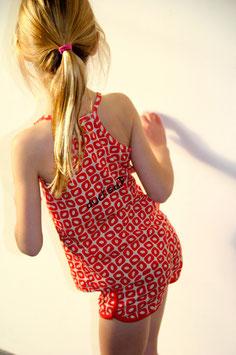 Ducksday Pyjama Short Summer Funky Red