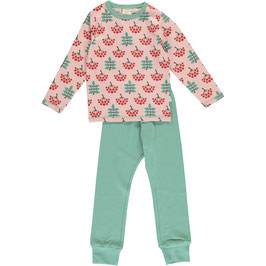 Maxomorra Pyjama LS Ruby Rowanberry
