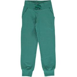 Maxomorra Sweat Pants Green Petrol