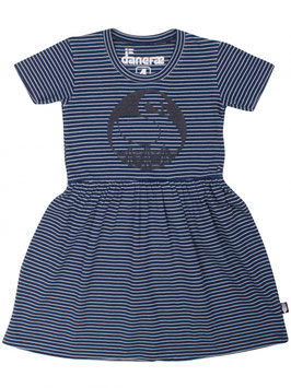 Danefae Garden Dress Navy/Off white Swan *AKTION*