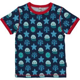 Maxomorra Shirt SS Deep Sea