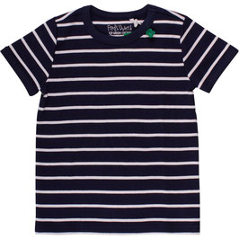 By Green Cotton Fred's World Stripe Shirt SS Navy NOOS