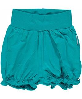 Maxomorra Shorts Rib Turquoise