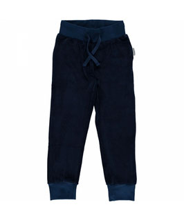 Maxomorra Pants Velour Dark Blue