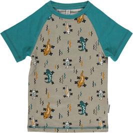Maxomorra Shirt SS Slim Lizard