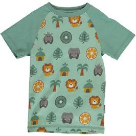 Maxomorra Shirt SS Slim Jungle