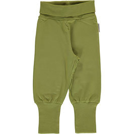 Maxomorra Pants Rib Apple Green