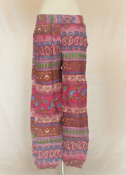 Pantalon droit Coloré Rose Fuschia