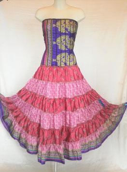 Robe Gypsy Corset Libéré Violette et rose