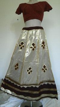 Jupe Lehenga Beige dorée