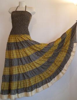 "Robe Gypsy ""Grise et jaune"""