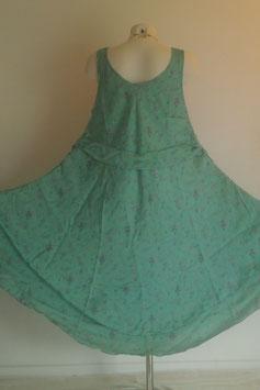 Robe en pure soie Generous Lady Turquoise vert clair