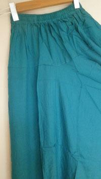 """Sarouel Turquoise uni """"Elastique"""""""