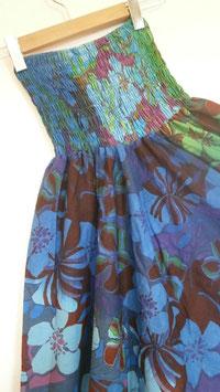 Sarouel 3 in 1 en coton Bleu hibiscus