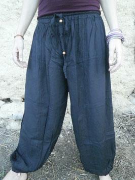 Pantalon Bouffant Noir en rayonne/viscose