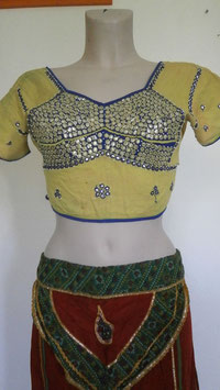 Choli Bollywood Jaune vif
