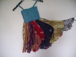 Robe Patchwork bleue