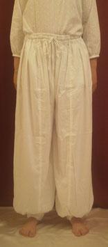 Pantalon Bouffant Blanc en rayonne/viscose