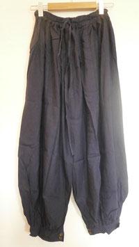 Pantalon Bouffant Bleu nuit en rayonne