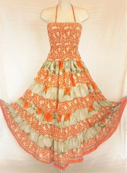 "Robe Gypsy Dervishka "" Orange et grise "" - Bustier Orange"