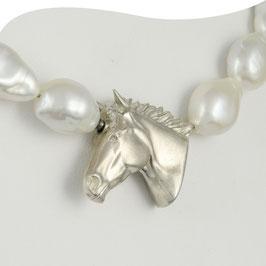 Perlencollier mit großem Pferdekopf • XL • Einzelstück